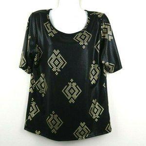 LulaRoe Womens Blouse Classic T Short Sleeve Large